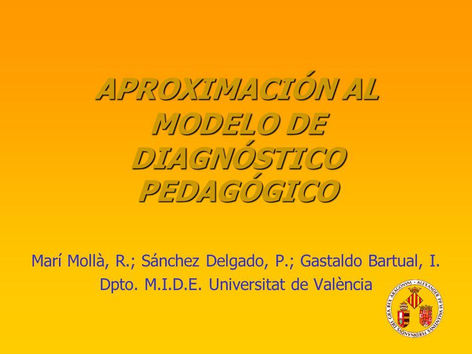 APROXIMACIÓN AL MODELO DE DIAGNÓSTICO PEDAGÓGICO