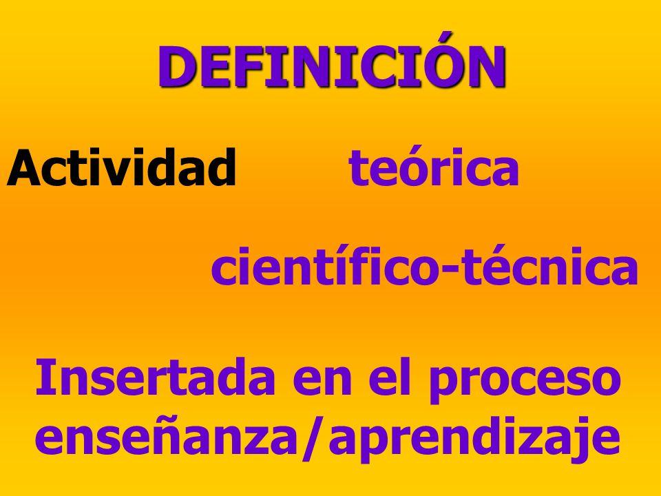 DEFINICIÓN Actividad teórica científico-técnica