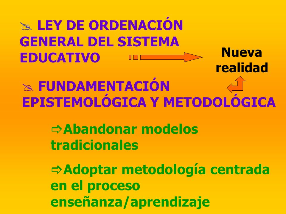 LEY DE ORDENACIÓN GENERAL DEL SISTEMA EDUCATIVO