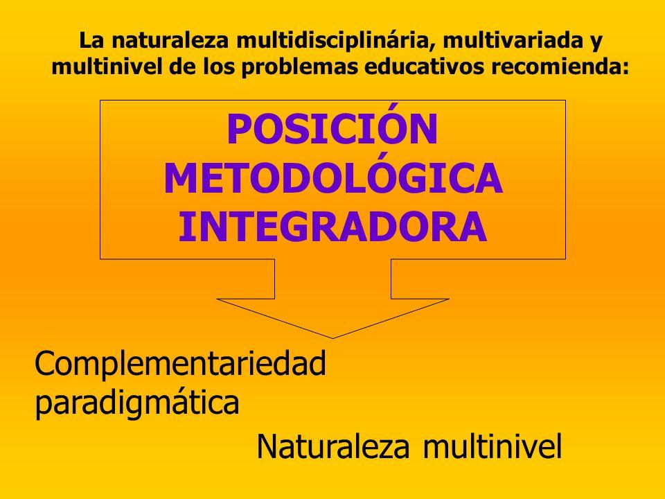 POSICIÓN METODOLÓGICA INTEGRADORA