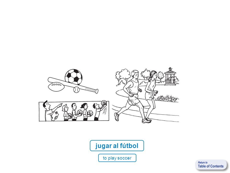 jugar al fútbol to play soccer