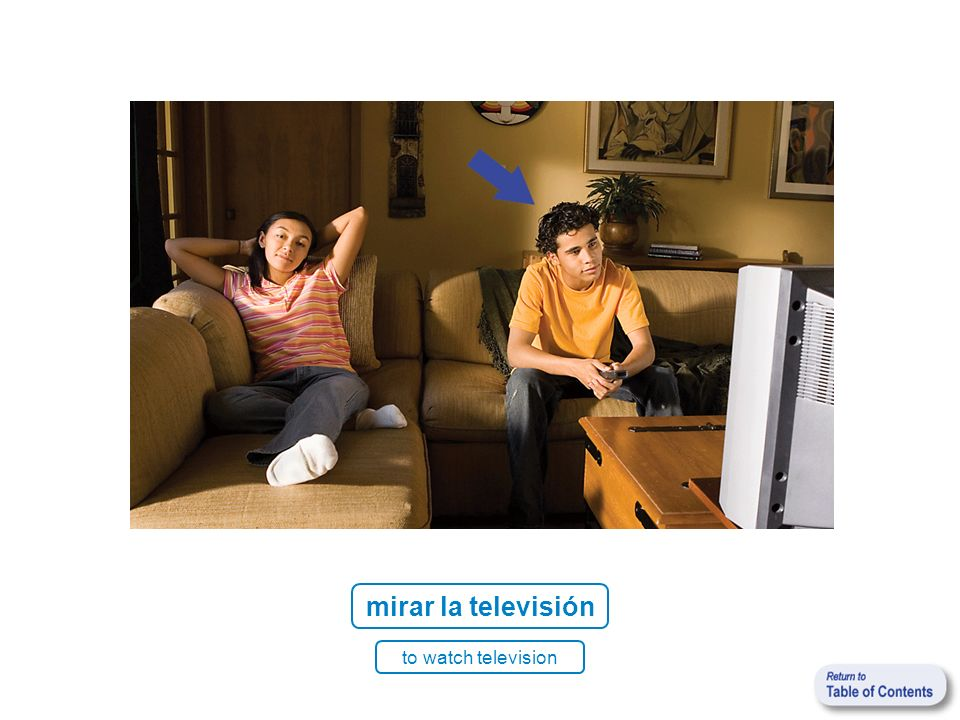 mirar la televisión to watch television