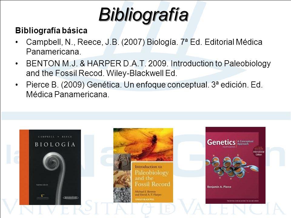 Bibliografía Bibliografía básica