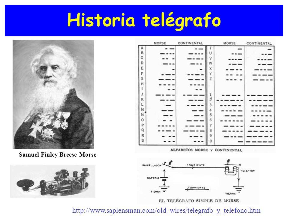 Historia telégrafo Samuel Finley Breese Morse.