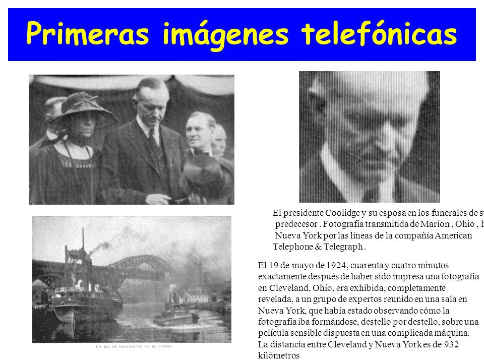 Primeras imágenes telefónicas