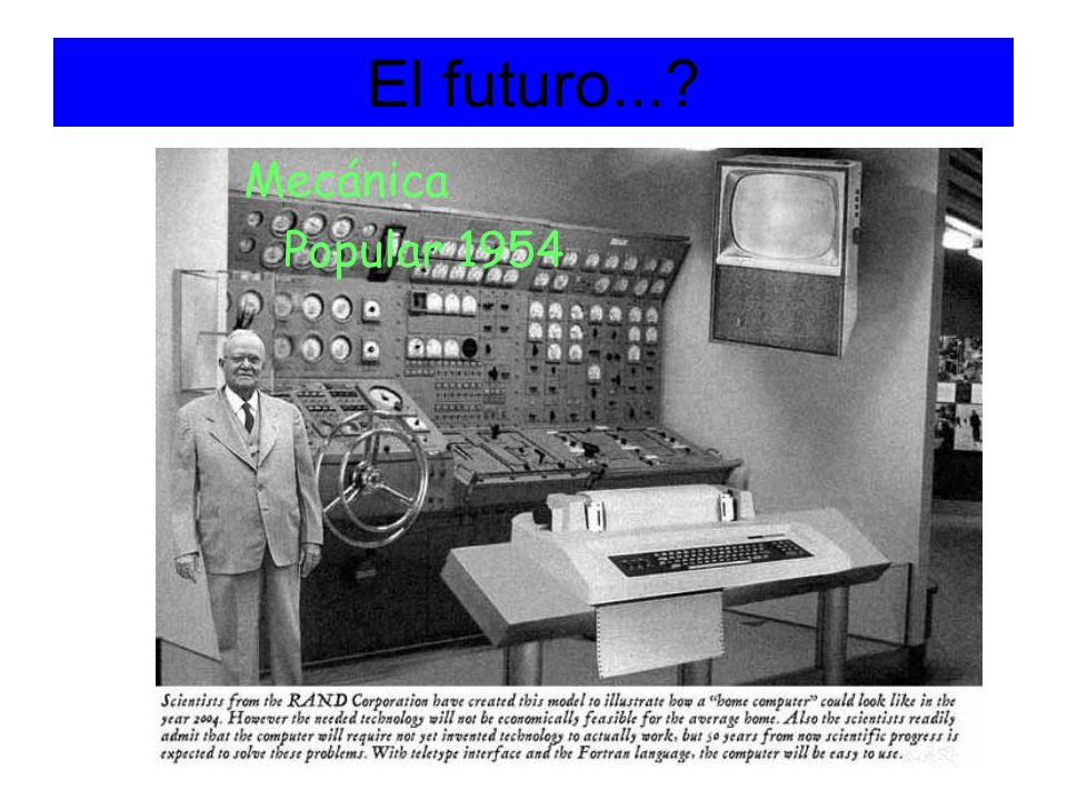 El futuro... Mecánica Popular 1954