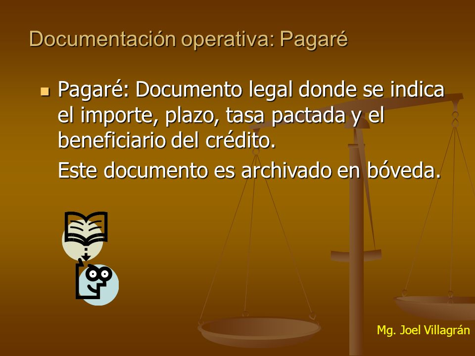 Documentación operativa: Pagaré