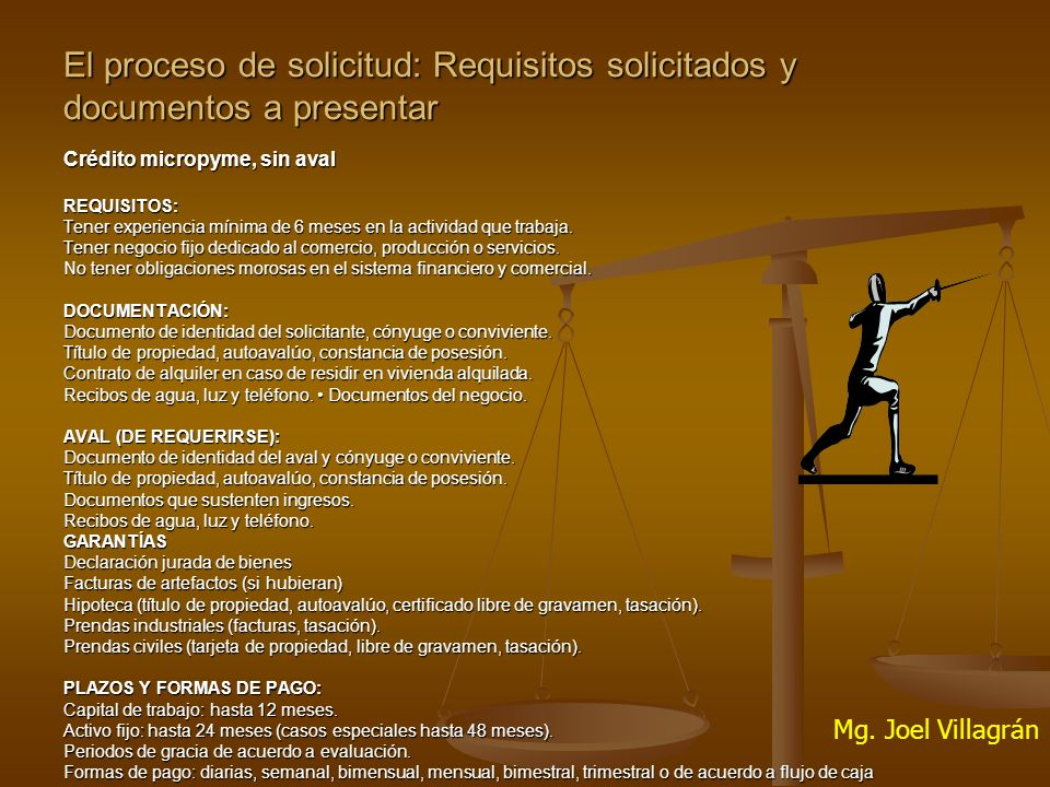 El proceso de solicitud: Requisitos solicitados y documentos a presentar