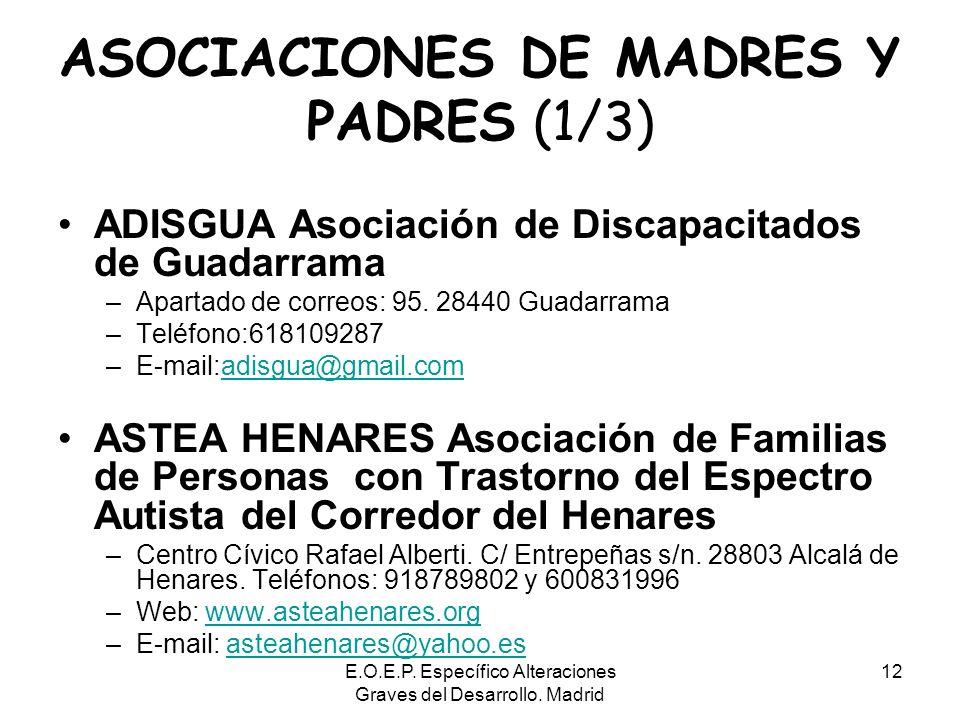 ASOCIACIONES DE MADRES Y PADRES (1/3)