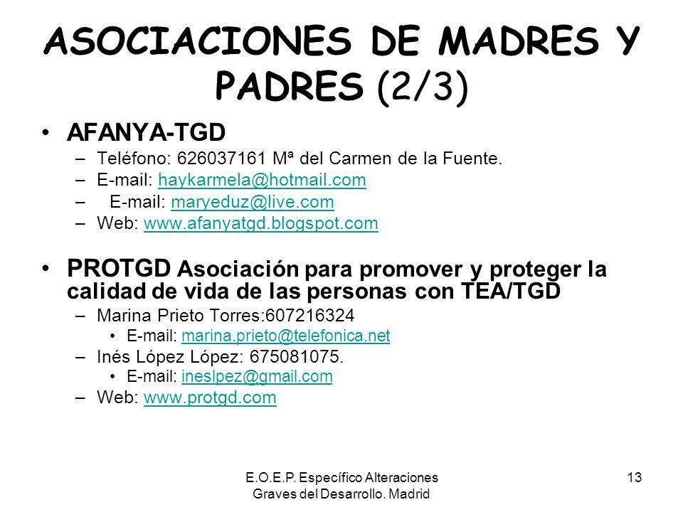 ASOCIACIONES DE MADRES Y PADRES (2/3)