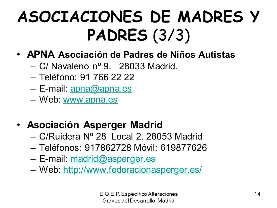 ASOCIACIONES DE MADRES Y PADRES (3/3)