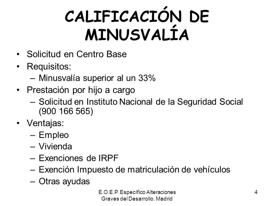 CALIFICACIÓN DE MINUSVALÍA