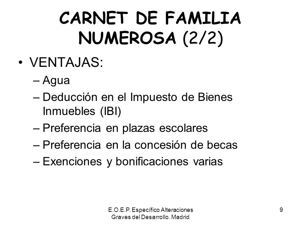 CARNET DE FAMILIA NUMEROSA (2/2)