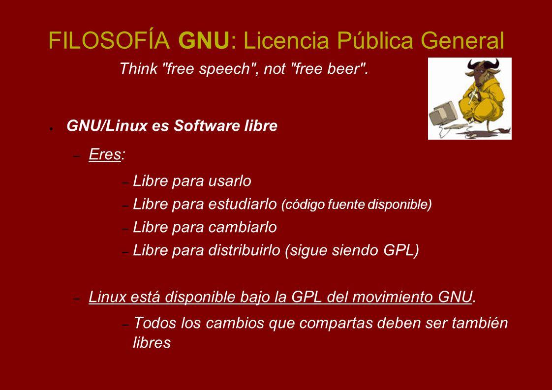 FILOSOFÍA GNU: Licencia Pública General
