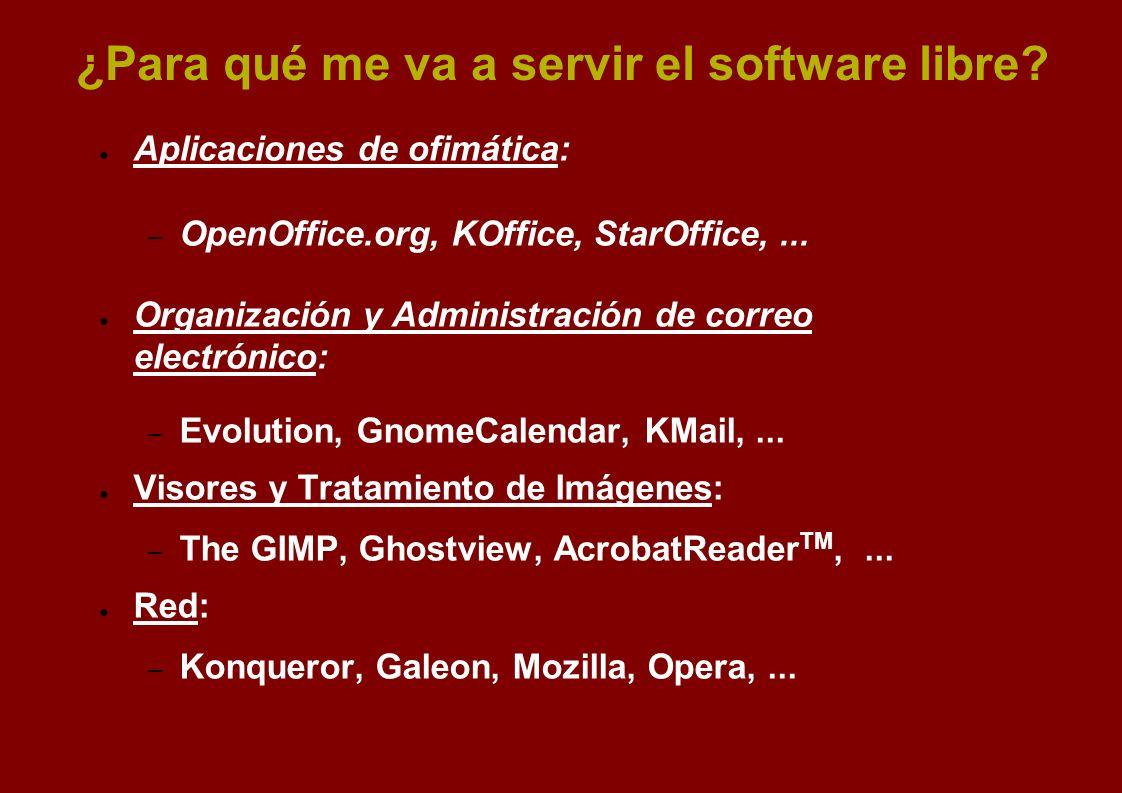 ¿Para qué me va a servir el software libre