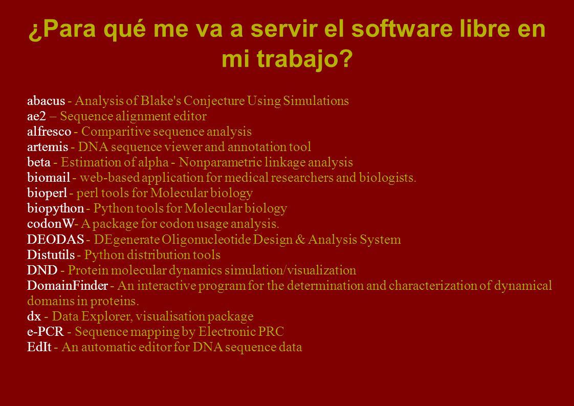 ¿Para qué me va a servir el software libre en mi trabajo