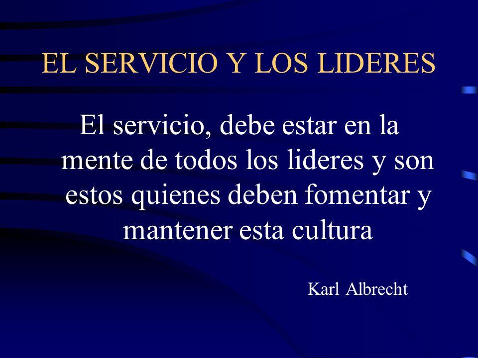 EL SERVICIO Y LOS LIDERES