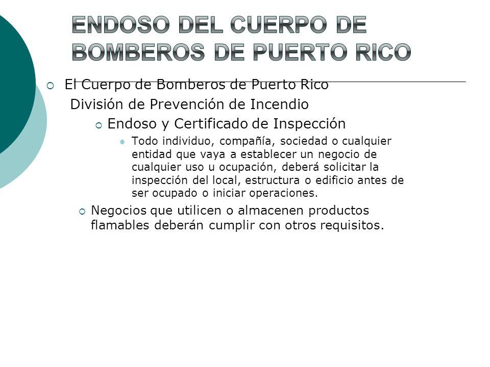 Endoso del Cuerpo de Bomberos de Puerto Rico