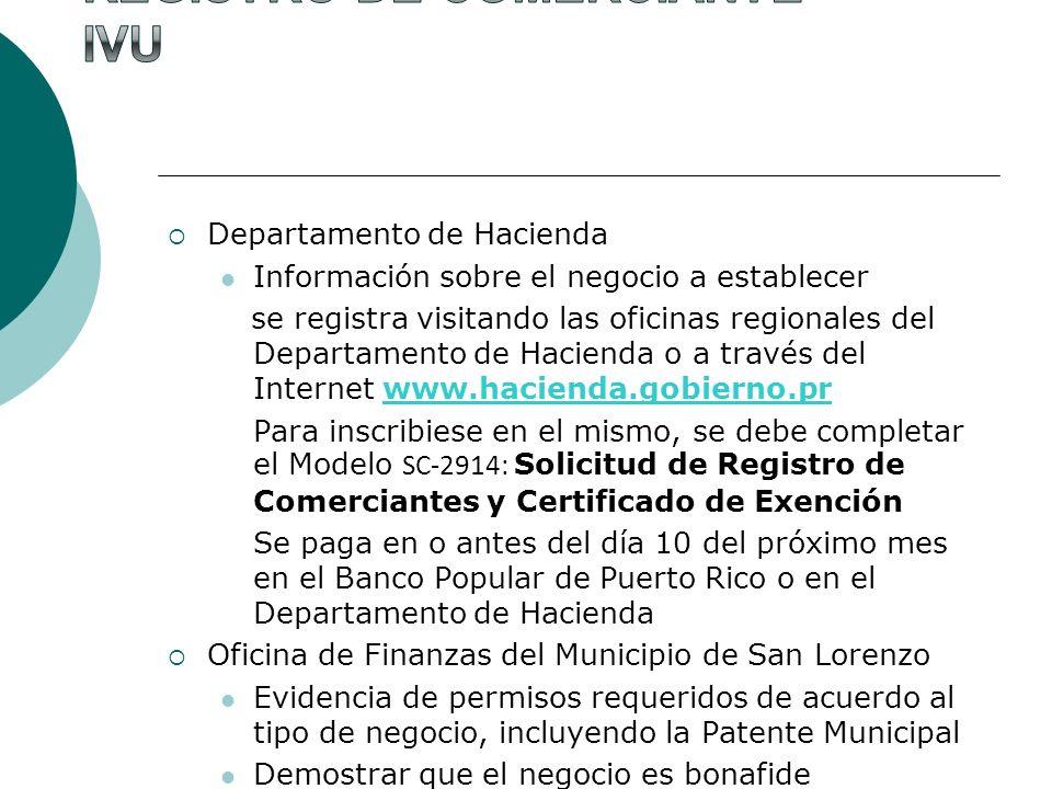 Registro de Comerciante IVU
