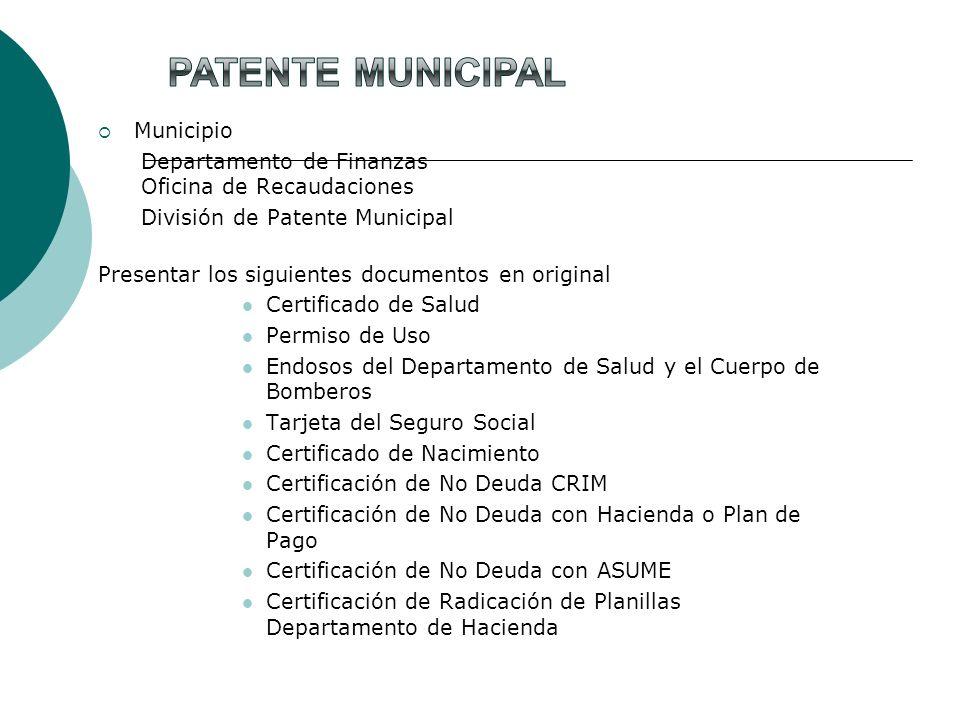 Patente Municipal Municipio