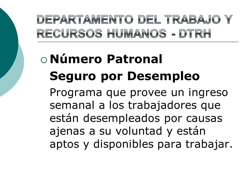 Departamento del Trabajo y Recursos Humanos - dtrh
