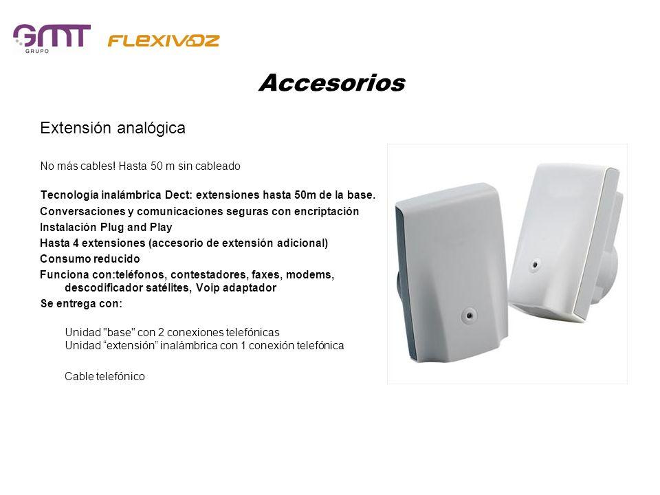Accesorios Extensión analógica No más cables! Hasta 50 m sin cableado