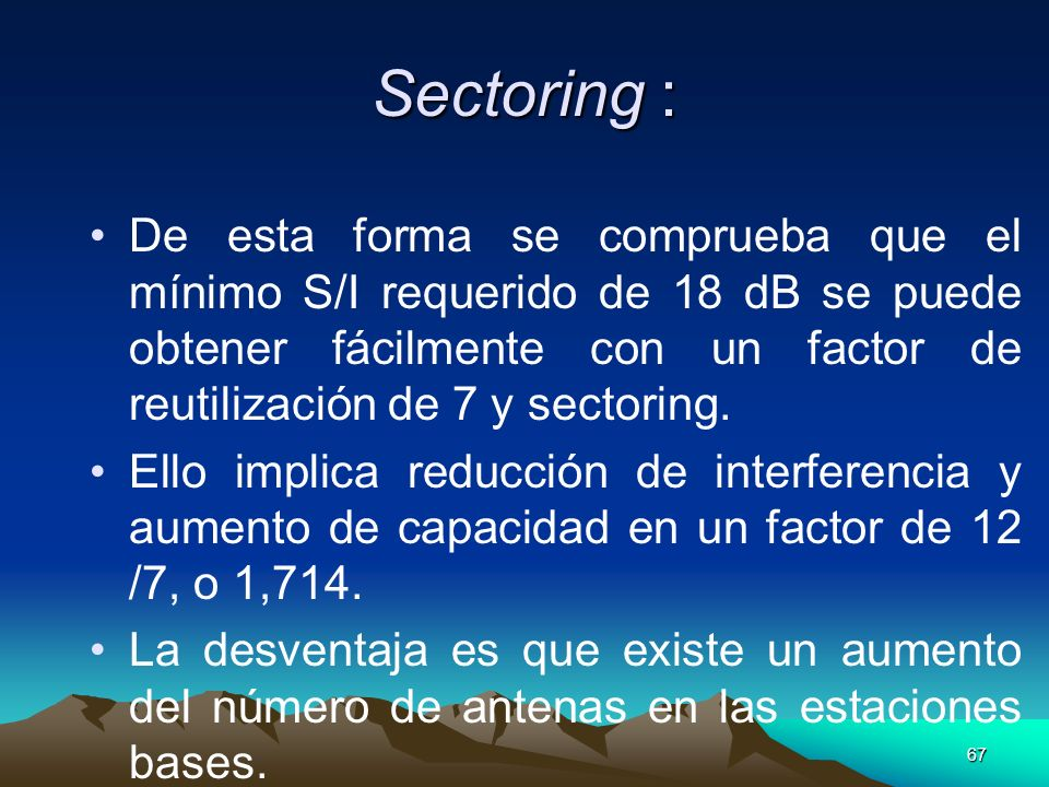 Sectoring :
