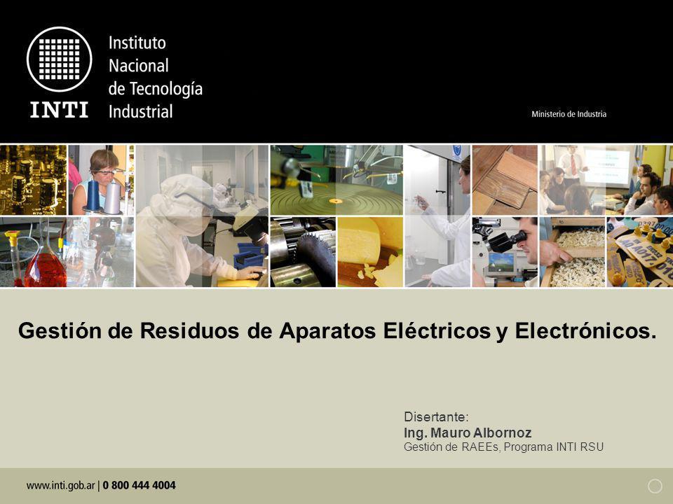Gestión de Residuos de Aparatos Eléctricos y Electrónicos.