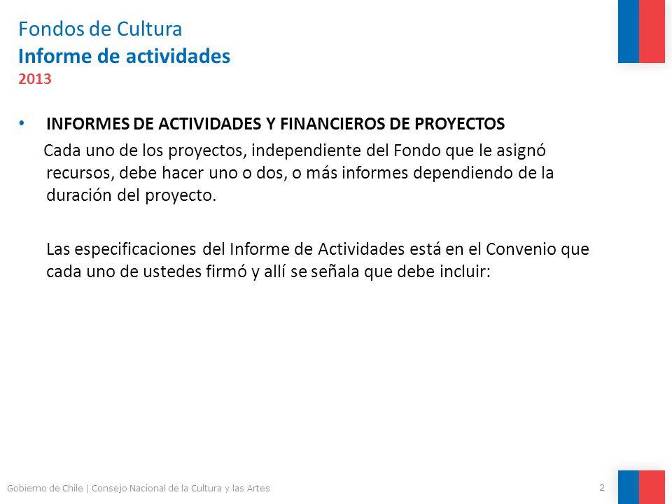 Fondos de Cultura Informe de actividades 2013