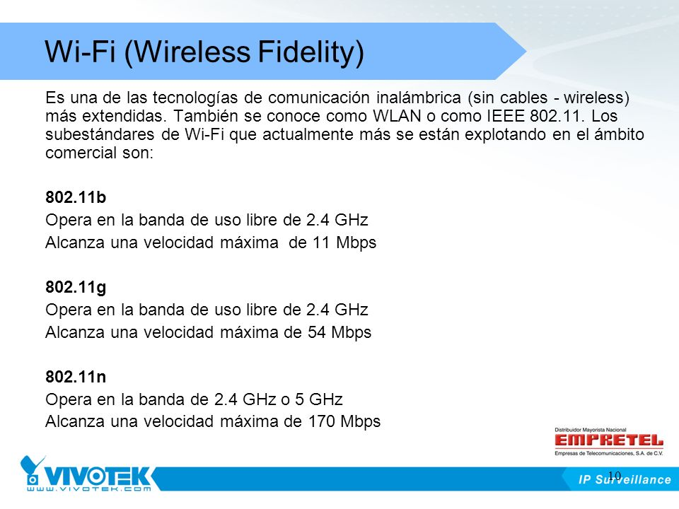 Wi-Fi (Wireless Fidelity)