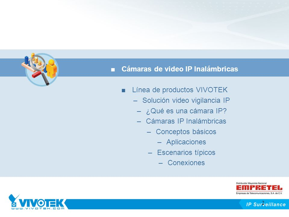 Cámaras de video IP Inalámbricas