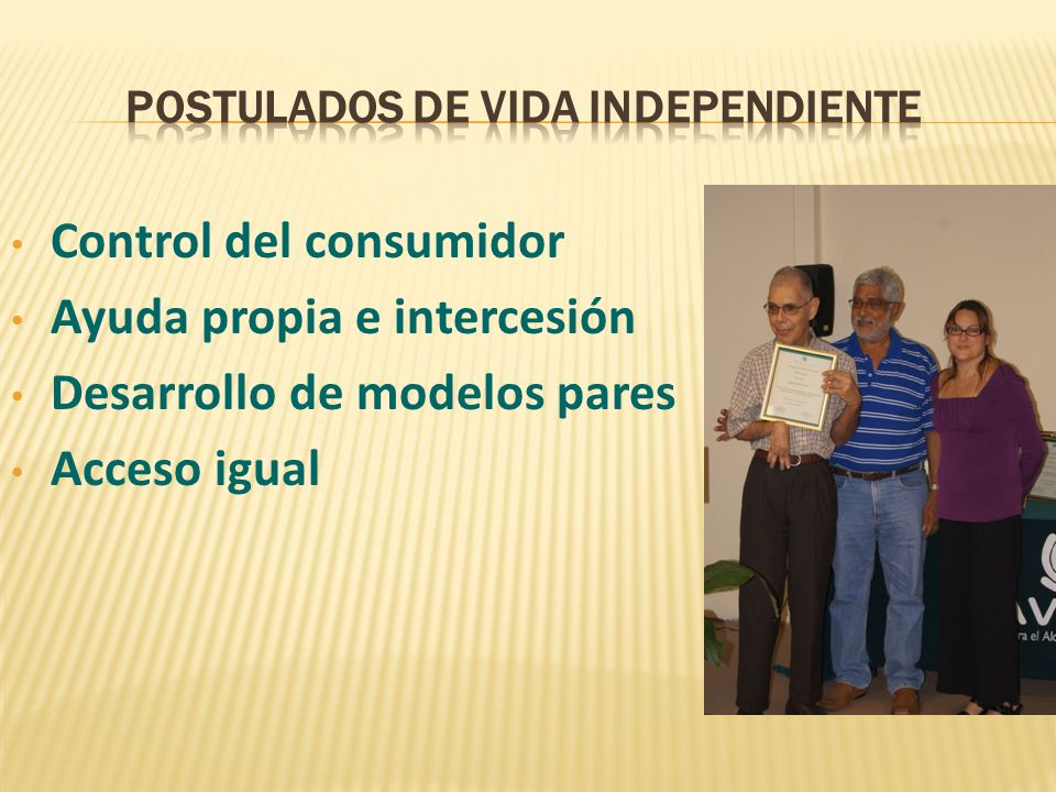 Postulados de Vida independiente