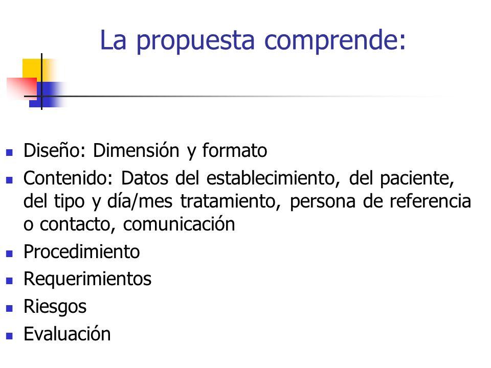 La propuesta comprende: