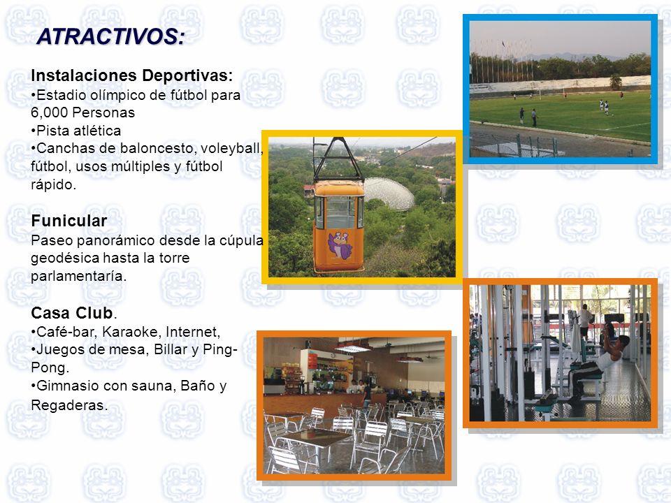 ATRACTIVOS: Instalaciones Deportivas: Funicular Casa Club.