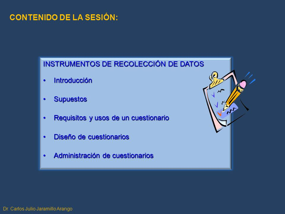 CONTENIDO DE LA SESIÓN:
