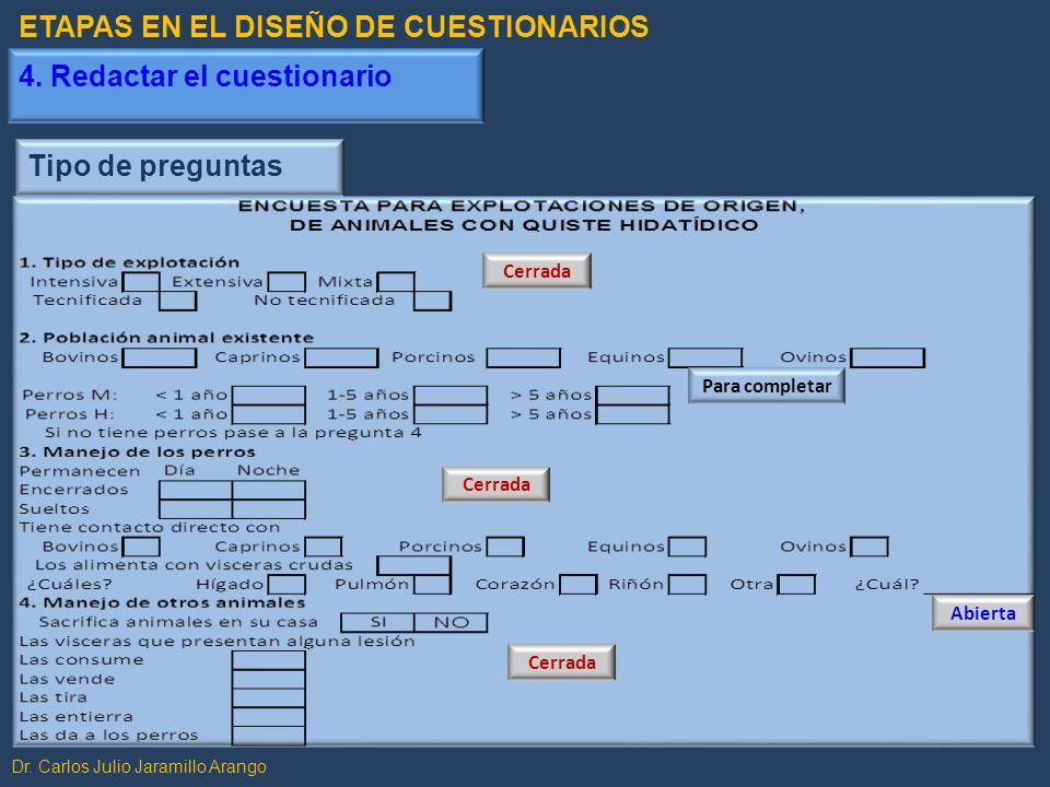 ETAPAS EN EL DISEÑO DE CUESTIONARIOS