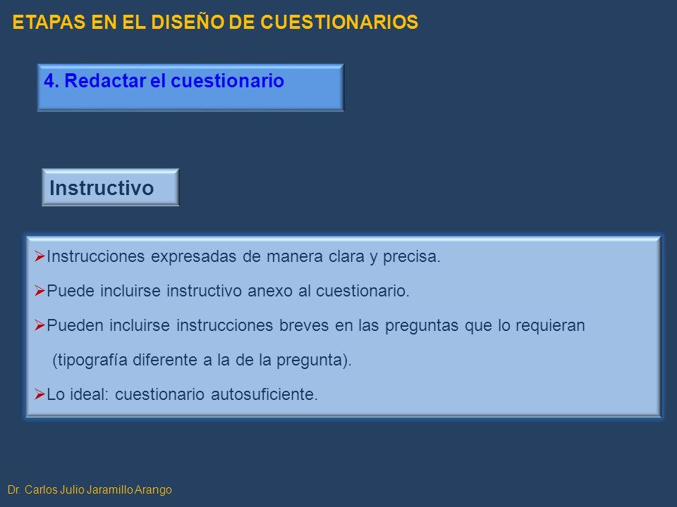 Instructivo ETAPAS EN EL DISEÑO DE CUESTIONARIOS