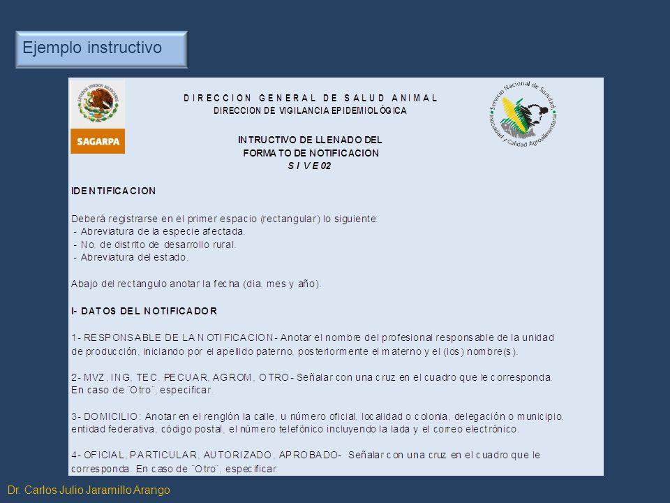 Ejemplo instructivo Dr. Carlos Julio Jaramillo Arango
