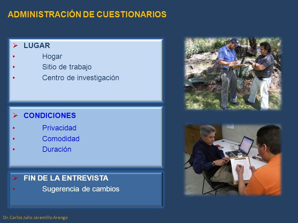 ADMINISTRACIÓN DE CUESTIONARIOS