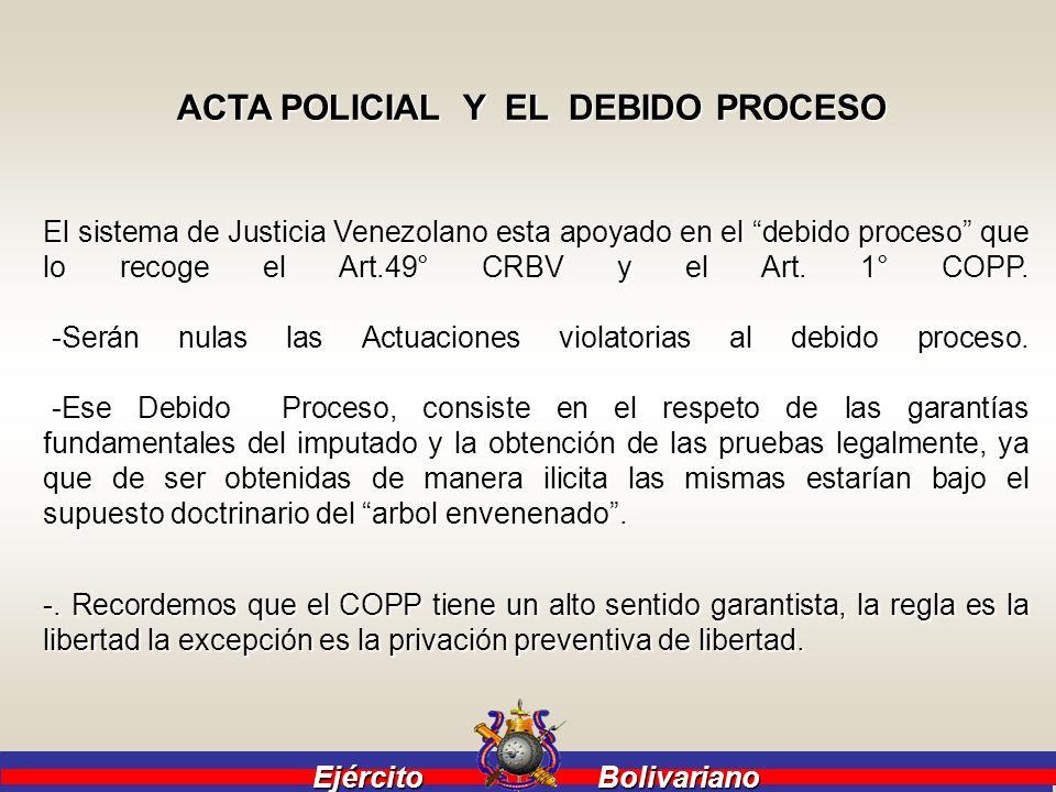 ACTA POLICIAL Y EL DEBIDO PROCESO