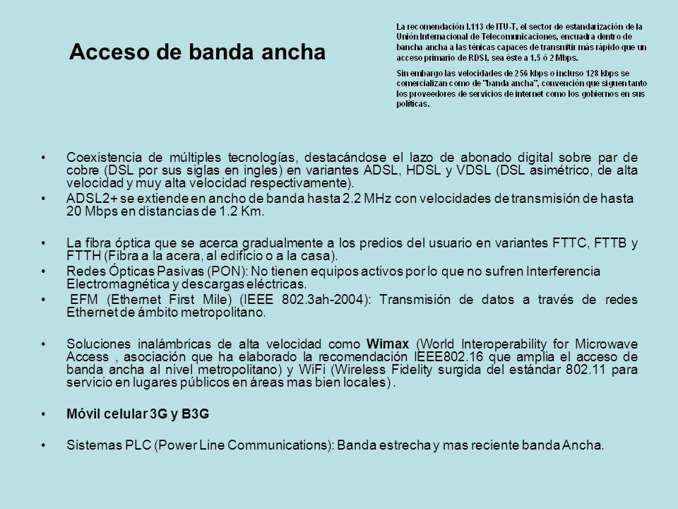 Acceso de banda ancha