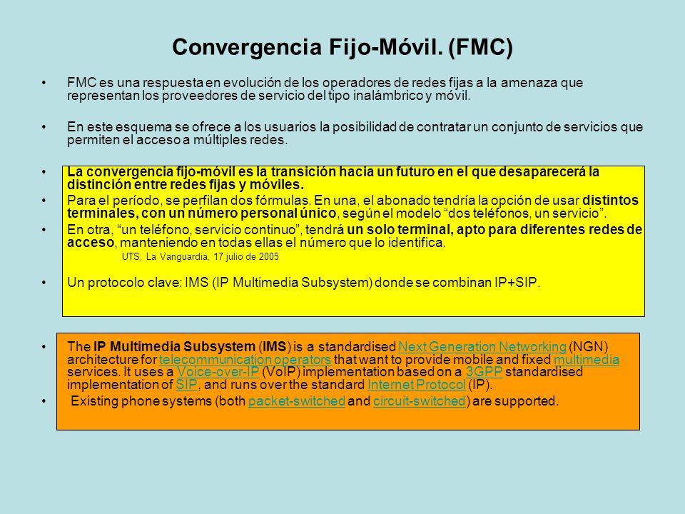 Convergencia Fijo-Móvil. (FMC)