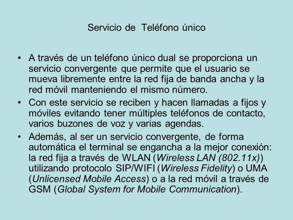Servicio de Teléfono único