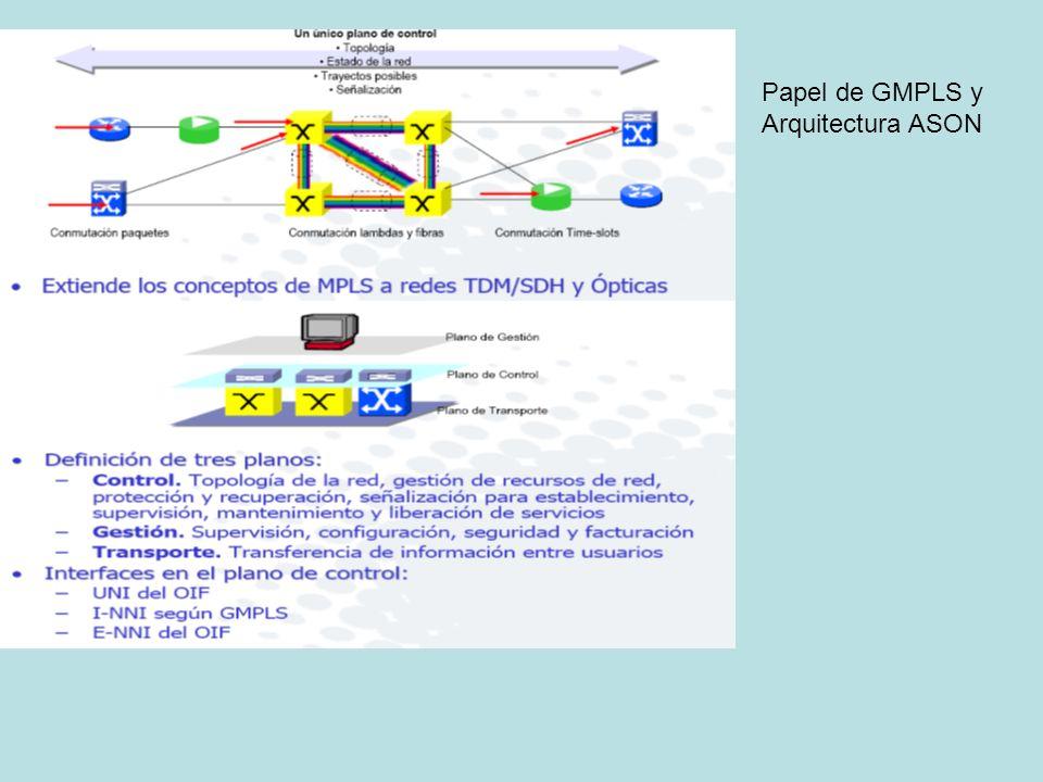 Papel de GMPLS y Arquitectura ASON