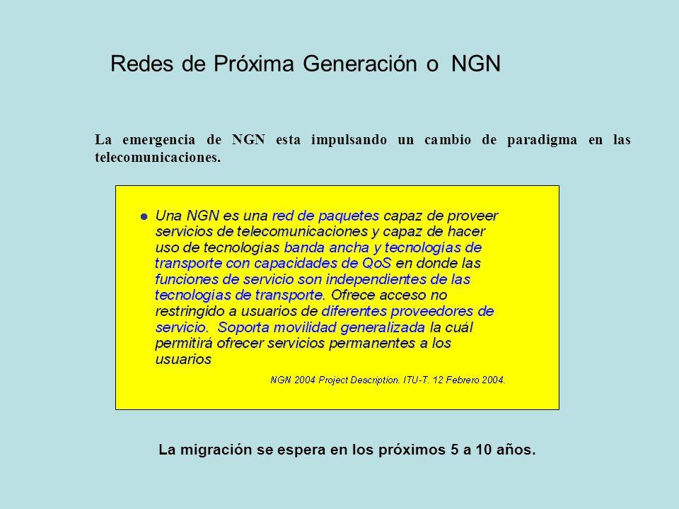 Redes de Próxima Generación o NGN