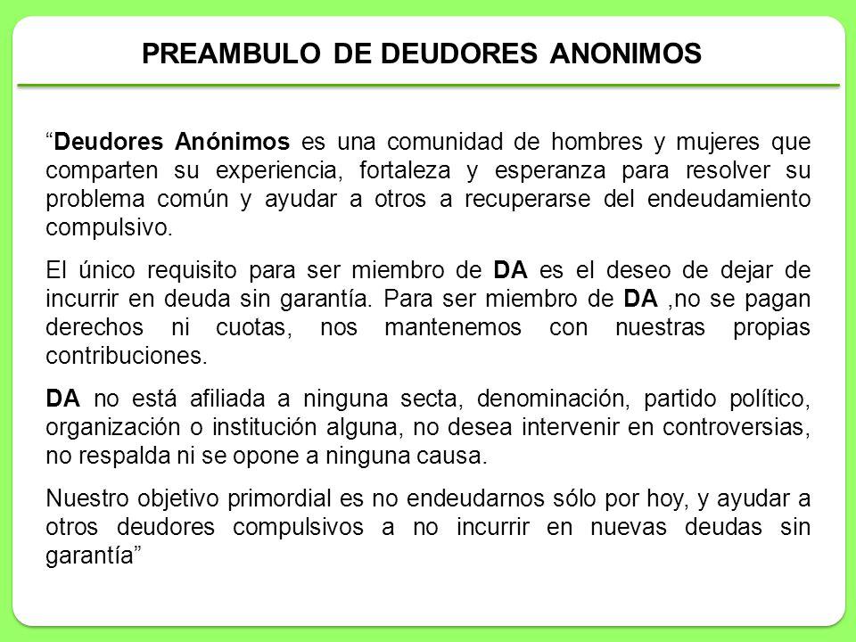 PREAMBULO DE DEUDORES ANONIMOS