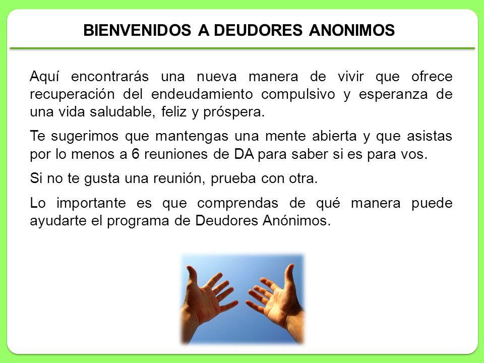 BIENVENIDOS A DEUDORES ANONIMOS