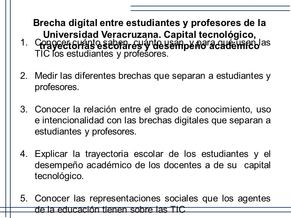 Brecha digital entre estudiantes y profesores de la Universidad Veracruzana. Capital tecnológico, trayectorias escolares y desempeño académico
