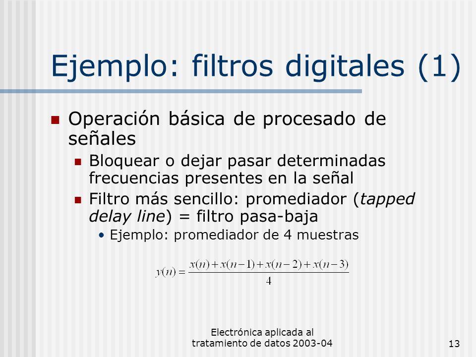 Ejemplo: filtros digitales (1)