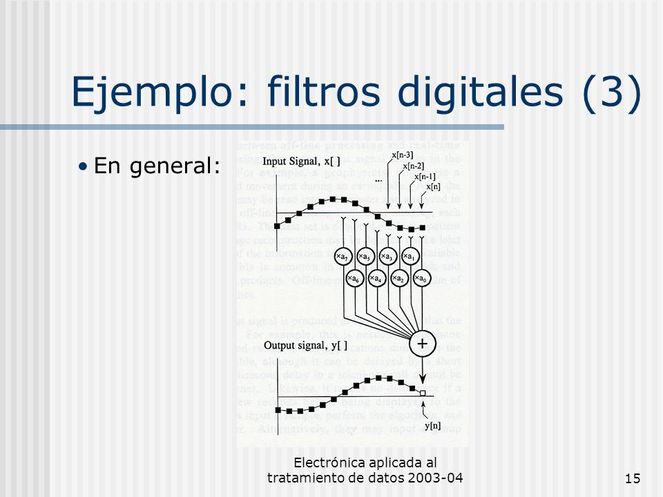 Ejemplo: filtros digitales (3)